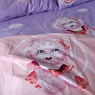 """Євро комплект (Бязь)   Постільна білизна від виробника """"Королева Ночі""""   Собаки на рожевому і фіолетовому, фото 3"""