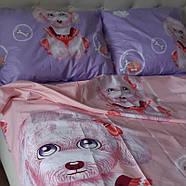 """Евро комплект (Бязь)   Постельное белье от производителя """"Королева Ночи""""   Собаки на розовом и фиолетовом, фото 2"""