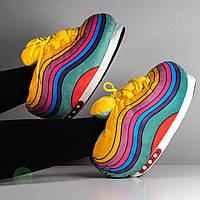 Домашние тапочки кроссовки в стиле Nike Air Max 97 (Найки), плюшевые, комнатные, размер 35-38