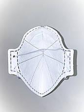 Респиратор FFP3 БЕЗ КЛАПАНА Микрон ФФП3 защитная многоразовая маска для лица от вирусов ОРИГИНАЛ, фото 2