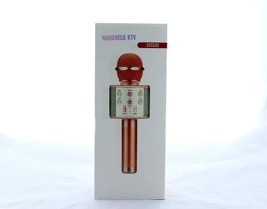 Микрофон DM Karaoke  WS858, Микрофон для караоке, 2 в 1 - динамик и микрофон, Беспроводной микрофон, фото 2