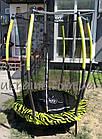 Батут детский EXIT Tiggy 140 см зелёный с внутренней сеткой, фото 10