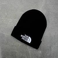 """Стильна чоловіча зимова шапка молодіжна """"NORTH FACE(ТЕМНО СИНІЙ) """""""