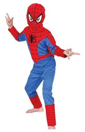 Костюм человека паука, спайдермена. Детский карнавальный костюм Spider man, фото 2