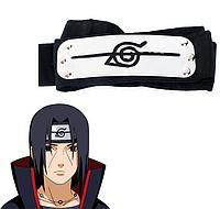 Повязка Акацуки - Итачи Учиха из Наруто с символикой отступников Деревни Скрытой В Листве, cosplay Naruto