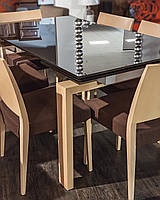 Стол Cs/249 Asia frame P03 rovere sbiancato tessuto 405 Tangeri Coffee