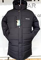 Зимняя,удлинённая,мужская куртка-парка.