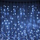 Гирлянда Штора светодиодная, 200 LED, Белая, прозрачный провод, 2х2м., фото 6