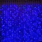 Гирлянда Штора светодиодная, 200 LED, Голубая (Синяя), прозрачный провод, 2х2м., фото 4