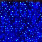 Гирлянда Штора светодиодная, 200 LED, Голубая (Синяя), прозрачный провод, 2х2м., фото 5