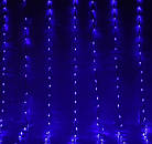 Гирлянда Штора светодиодная, 200 LED, Голубая (Синяя), прозрачный провод, 2х2м., фото 7