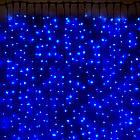 Гирлянда Штора светодиодная, 200 LED, Голубая (Синяя), прозрачный провод, 2х2м., фото 8