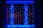 Гирлянда Штора светодиодная, 200 LED, Голубая (Синяя), прозрачный провод, 2х2м., фото 9