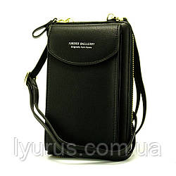 Жіночий гаманець-клатч, сумочка Baellerry Forever. Чорна