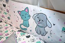 Защитные бортики подушки  в детскую  кроватку (в расцветках)