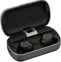 Bluetooth беспроводные наушники с водозащитой TWS s8 5.0 (блютуз гарнитура с кейсом-зарядкой) (серые)