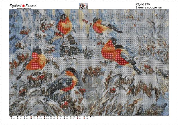 КДІ-1176 Набір алмазної вишивки мозаїки Зимові посиденьки, фото 2