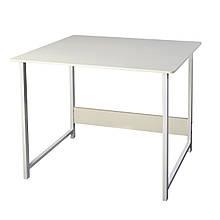 Белый компьютерный и письменный стол 2 в 1