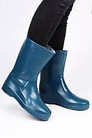 Сапоги резиновые женские синие