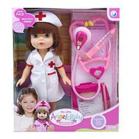 """Детский кукольный игровой набор """"Кукла медсестра"""" с медицинскими инструментами (Белый)"""