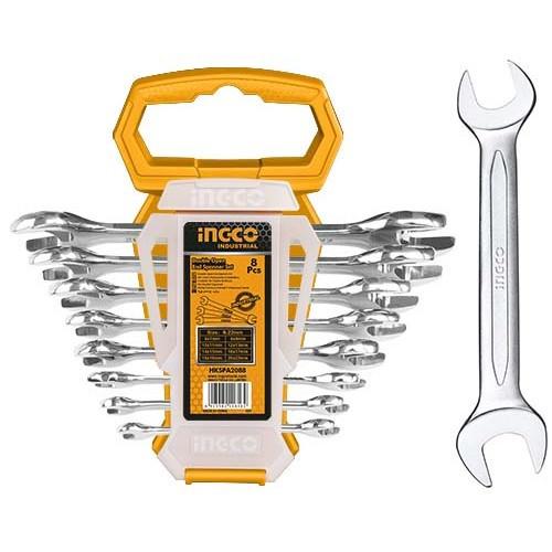 Комплект ключів гайкових ріжкових двосторонніх 6-22 мм INGCO INDUSTRIAL