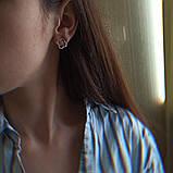 Серьги гвоздики с клевером  BD-S10, фото 3