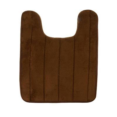 Мягкий коврик для туалета с вырезом под унитаз, Коричневый