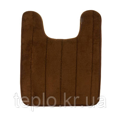 М'який килимок для туалету з вирізом під унітаз