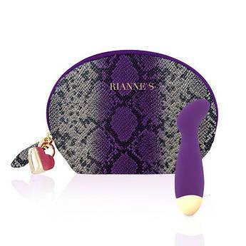 Вибратор для точки G Rianne S: Boa Mini Purple, 10 режимов работы, медицинский силикон, косметичка-чехол