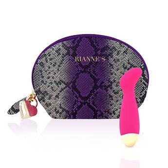 Вибратор для точки G Rianne S: Boa Mini Pink, 10 режимов работы, медицинский силикон, косметичка-чехол