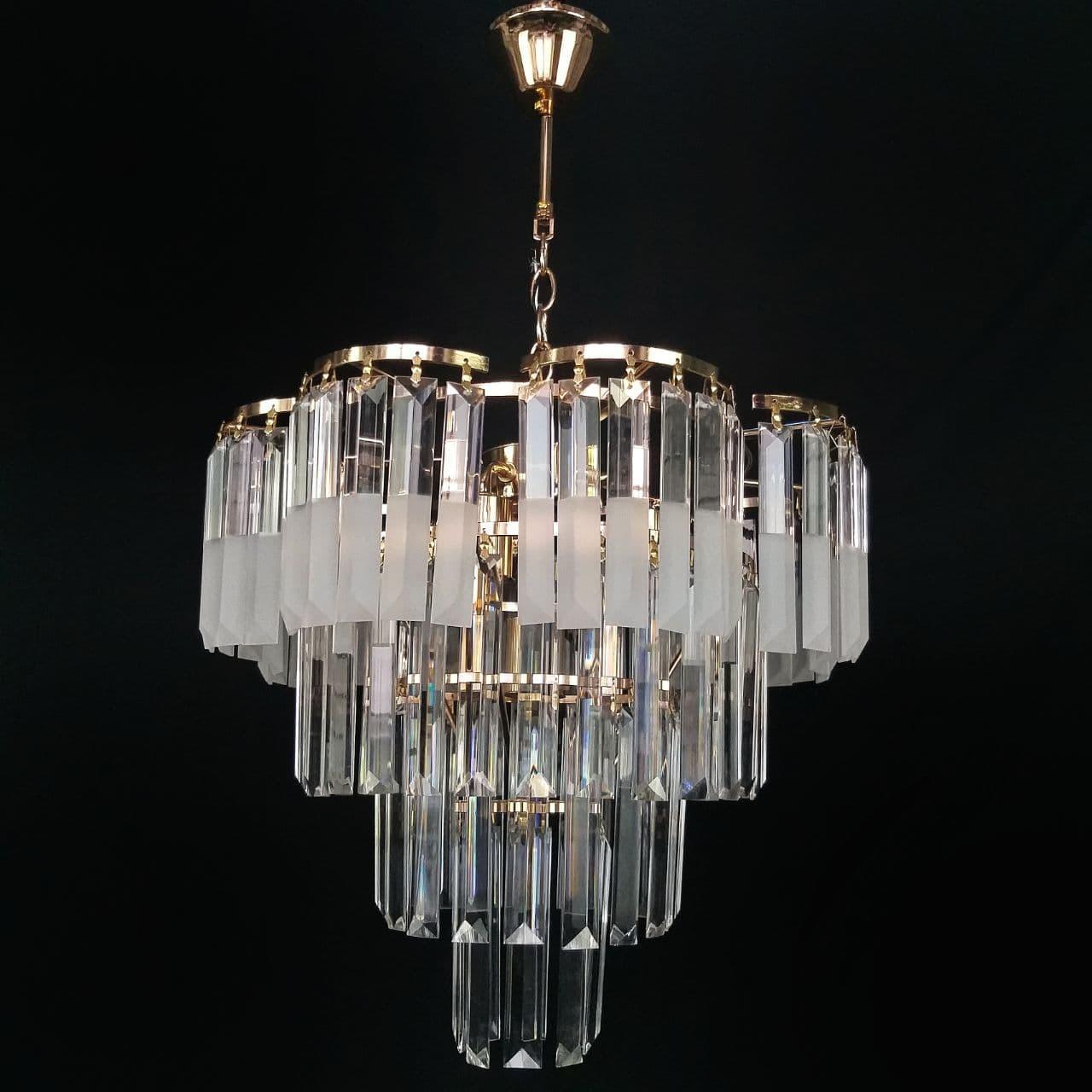 Люстра хрустальная в золоте на 8 лампочек 3-E1841/8