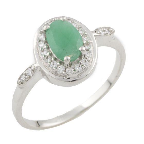 Серебряное кольцо DreamJewelry с натуральным изумрудом (0466262) 17.5 размер
