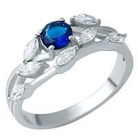 Серебряное кольцо DreamJewelry с сапфиром nano (1937747) 18 размер, фото 1