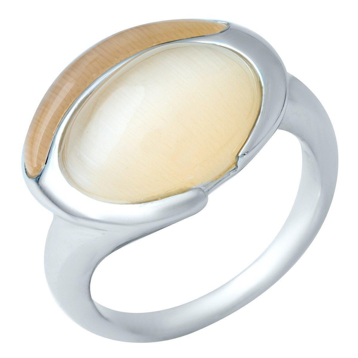 Серебряное кольцо DreamJewelry с кошачим глазом (1945094) 17 размер
