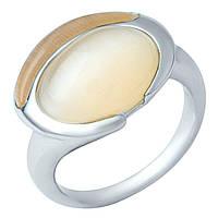 Серебряное кольцо DreamJewelry с кошачим глазом (1945094) 17 размер, фото 1
