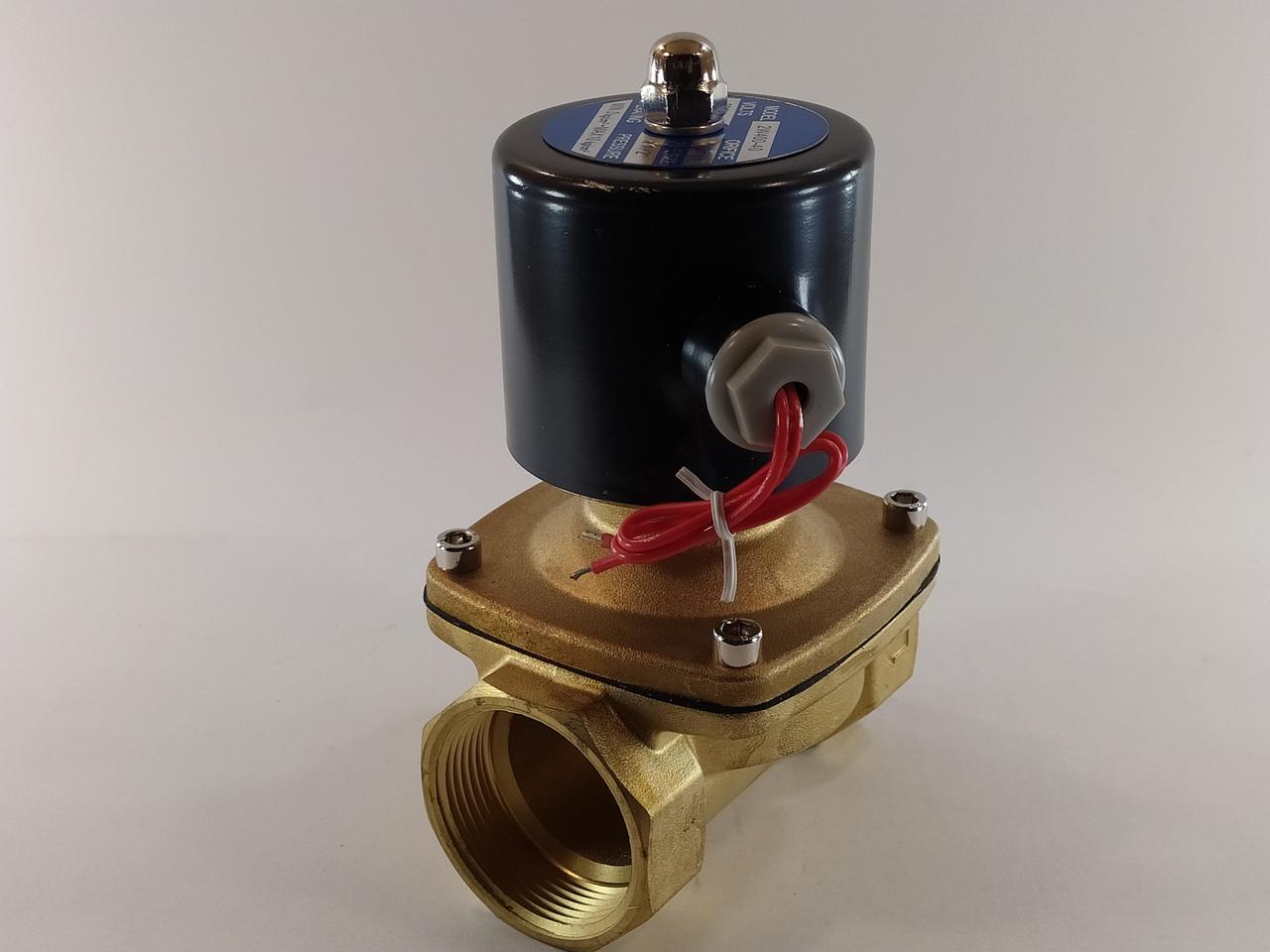 """Электромагнитный клапан 1 1/2"""" ДУ40 220В нормально-закрытый"""