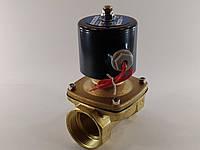 """Электромагнитный клапан 1 1/2"""" ДУ40 220В нормально-закрытый , фото 1"""