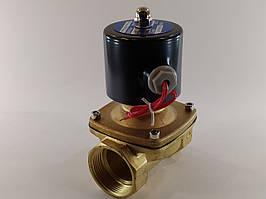 """Електромагнітний клапан 1 1/2"""" ДУ40 220В нормально-закритий"""