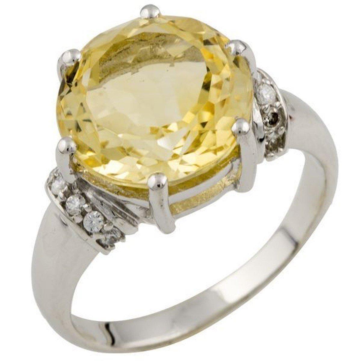 Серебряное кольцо DreamJewelry с цитрином nano 4.29ct (1089392) 18 размер