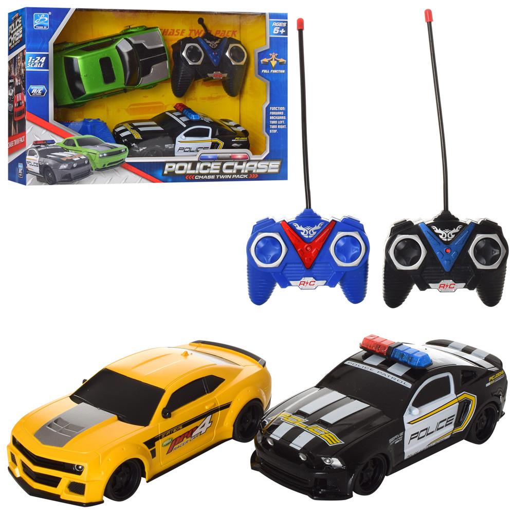 фото набора машинка на радиоуправлении полиция и желтая Chevrolet