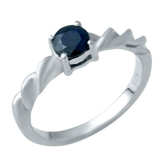 Серебряное кольцо DreamJewelry с натуральным сапфиром (1946893) 17 размер