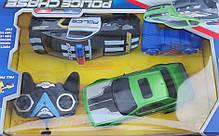 Машинка 2шт на радио пульте управления полиция черная и зелёная Chevrolet, фото 2