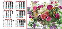 Календарь настольный домиком  Цветы 2021