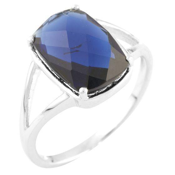 Серебряное кольцо DreamJewelry с сапфиром nano (1456347) 17.5 размер