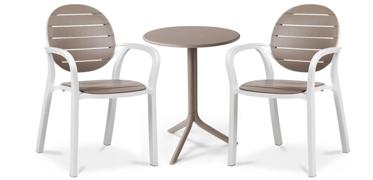 Комплект  Step 60,5см +2.крісла Palma NARDI bianco tortora