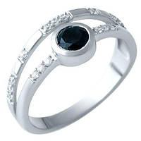 Серебряное кольцо DreamJewelry с натуральным сапфиром 0.66ct (1914762) 18 размер, фото 1