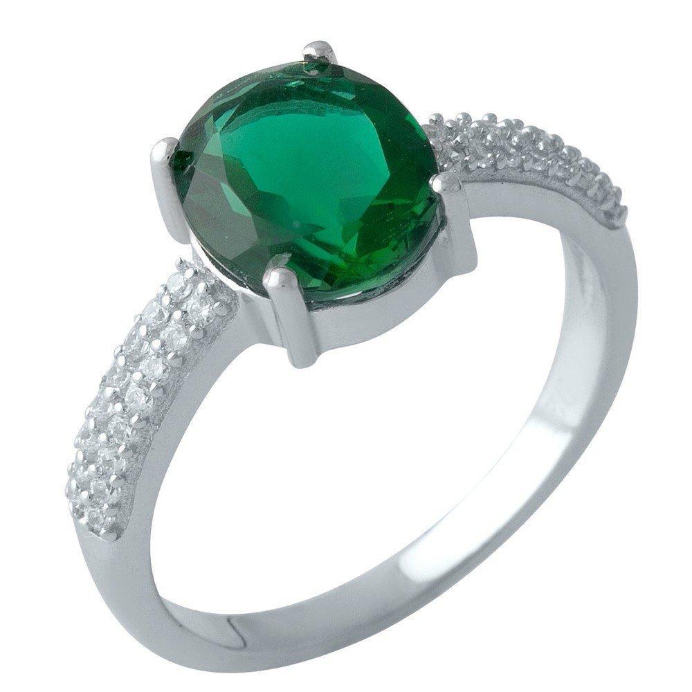 Серебряное кольцо DreamJewelry с изумрудом nano 2.315ct (2000921) 18 размер