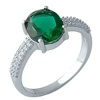 Серебряное кольцо DreamJewelry с изумрудом nano 2.315ct (2000921) 18 размер, фото 1