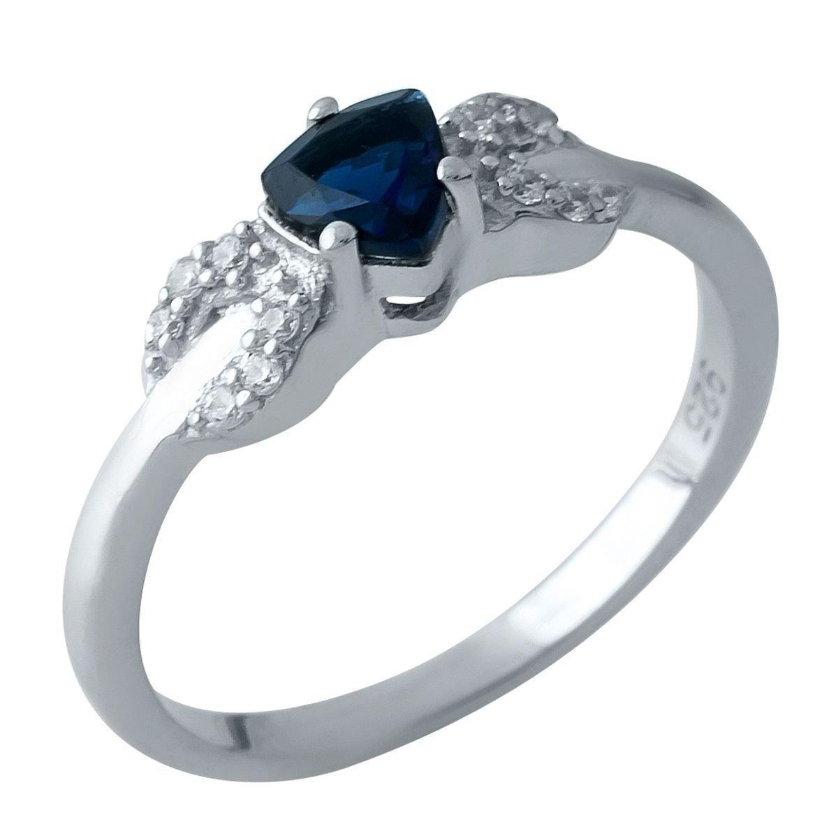 Серебряное кольцо DreamJewelry с сапфиром nano (1969441) 18.5 размер