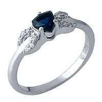 Серебряное кольцо DreamJewelry с сапфиром nano (1969441) 18.5 размер, фото 1